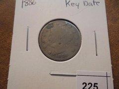 1886 key date Liberty 5c G4