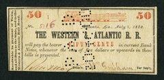 1862 50c Western & Atlantic RR