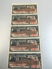 1896 $25 Kentucky Union RR Payable in Gold Coin Coupons