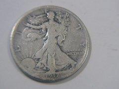 1917 obv S, Half Dollar VG8 details