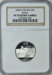 2004-S Iowa 25c NGC PF70 Ultra Cameo Ultimate Quality