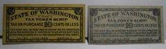 1935 State of Washington 1/5 cent, tax token scrip. series b, c