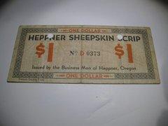 1933 $1 OR Heppner Sheepskin Scrip punch xcel