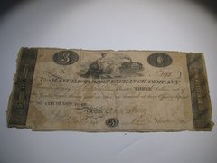 1814 $3 Manufacturers Exchange Company CT/NY