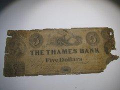 1848 $5 Thames Bank, Norwich