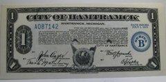 1933, Jul1 1, Series B, $1 City of Hamtramck