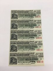 1916 National Properties American Railways $25 Bond Interest Coupons