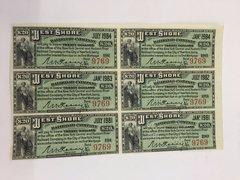 1885 West Shore Railroad Company $20 Bond Interest Coupons