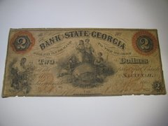 1864 $2 Bank of State of Georgia, Savannah