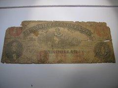 1862 $1 Virginia Treasury Note