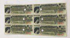 1943 New York and Harlem Railroad Company $17.50 Bond Interest Coupons