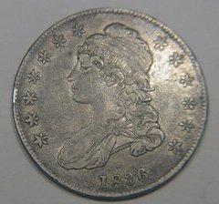 1836 Bust Half conservative VF25