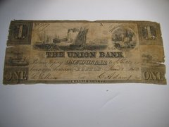 1853 $1 Union Bank of Boston