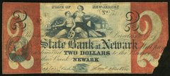 1857 $2 State Bank of Newark