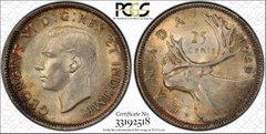 1940 Canada 25C PCGS64