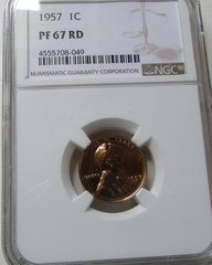 1957 NGC PF67 Red Cent - Perfect Birthday, Christmas for your 60 yrSOLD