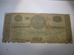 1861 $1 Corporation of Richmond