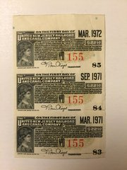 1929 United New Jersey Railroad and Canal Company $22.50 Bond Interest Coupons