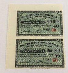 1906 Hartford New York Transportation Co $30 Bond Interest Coupons