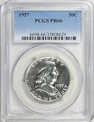 1957 Franklin Half, PCGS PR66
