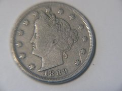 1889 Liberty Nickel, F details