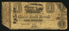 1830s $1 Ohio Railroad, Ohio City, Scarce