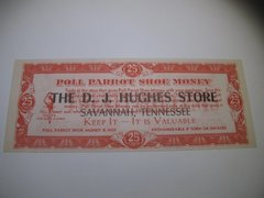1920-30s 5 piece set DJ Hughes Shoe Money