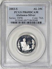 "2003-S Alabama-Silver PCGS PR 69DCAM ""Roll Tide"" ""War Eagle"""