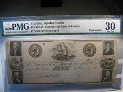 1833-43 Commercial Bank of Florida, Apalachicola