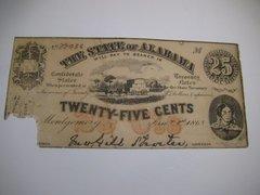 1863 25c State of Alabama