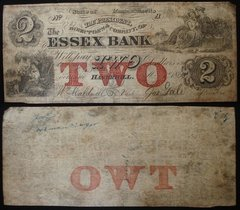 1863 $2 Essex Bank, Haverhill