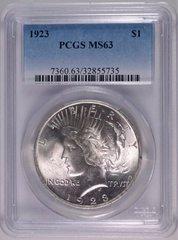 1923 $1 PCGS63 really nice coin