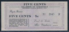 1933 5c ChofCommerce Neodesha, KS R5 Note