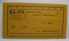 1933 $2 JC Harris Lacrosse, FL