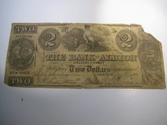 1863 $2 Bank of Albion, Orleans County