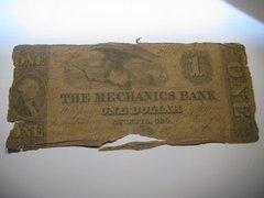 1850s$1 Mechanics Bank, Augusta