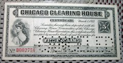1933 $5 Chicago Clearing House Depression Scrip