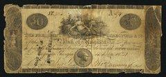 1821 $50 Bank of Augusta, GA