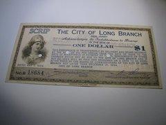 1934 $1 City of Long Branch