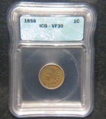 1859 1c ICG VF30