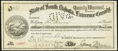 189? Deadwood, SD- Lawrence County County Warrant $4