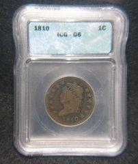 1810 Large Cent, ICG-G6