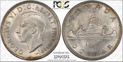 1937 Canada $ PCGS62 lustrous