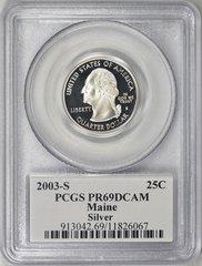 2003-S Maine-Silver PCGS PR 69DCAM