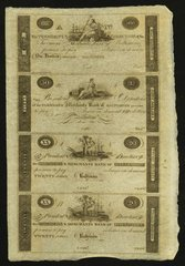 1810-20 $20,$20,$50,$100 Farmers and Merchants, Baltimore