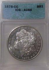 1878 CC Morgan $, ICG-AU58