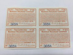 1908 Cairo and Norfolk Railroad Company $2.50 Bond Interest Coupon Payable in Gold