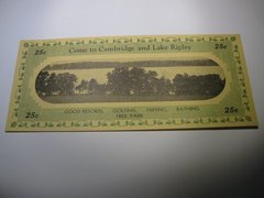 1933 25c Cambridge & Lake Ripley
