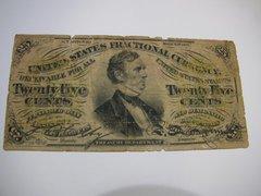 1863 25c Fr1294 Green Rev VG details