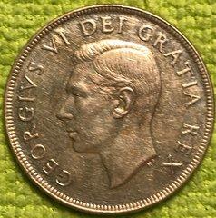1952 George VI Canadian Dollar